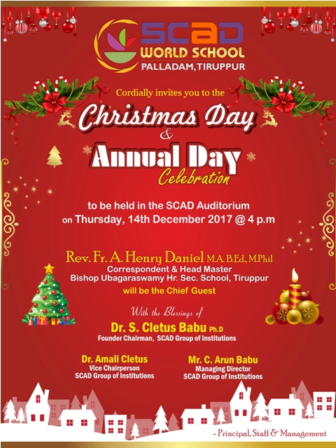 Christmas and Annual Day Invitation 2017-18