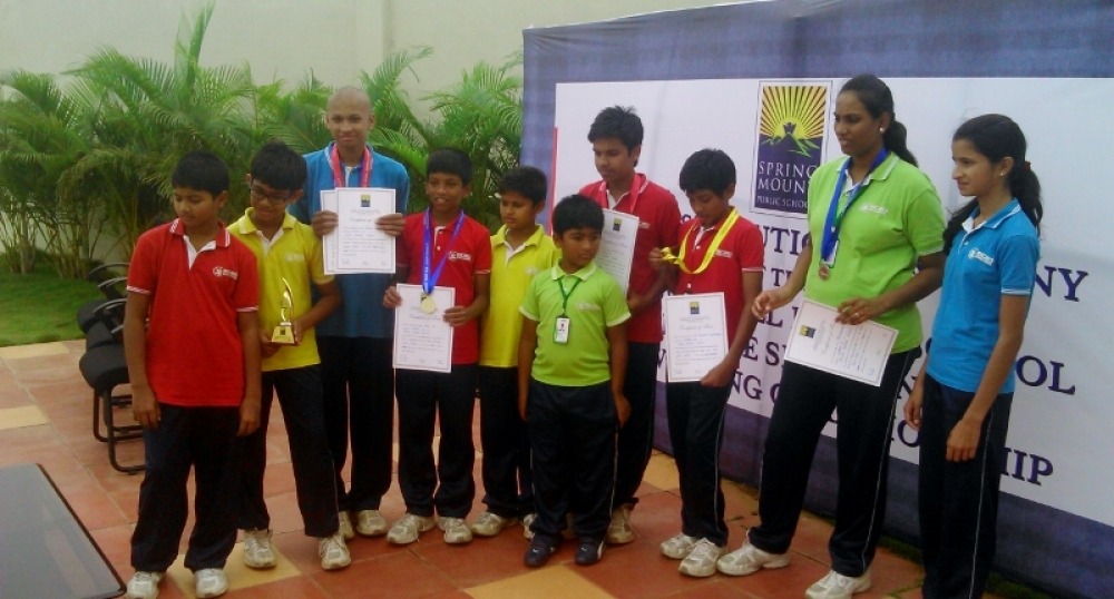 Inter District Swimming Competition at Spring Mount Public School - Triupur